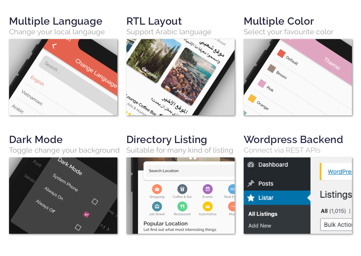 Listar FluxPro - mobile directory listing app for Flutter & Wordpress - 2